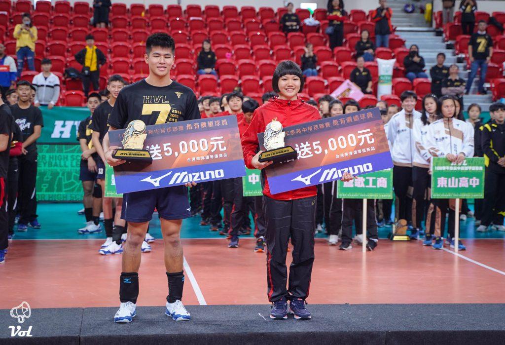 108學年度高中排球甲級聯賽名次與個人獎項