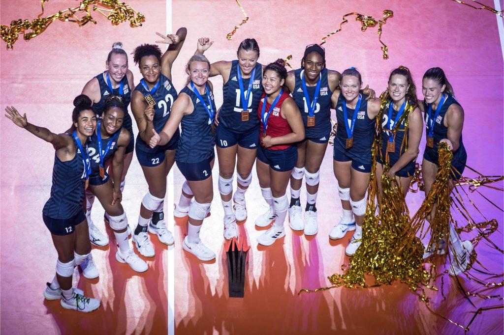 VNL》美國女排艱辛退巴西奪三連霸,主攻Bartsch-Hackley奪MVP