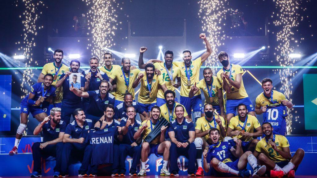 VNL》巴西男排力克波蘭拿下隊史首冠 Bruno:我們付出了100%的心力