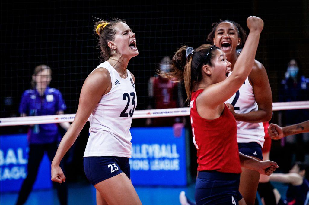 VNL》美國女排前進四強,澳洲男排首勝退伊朗,荷蘭男排五局敗法國