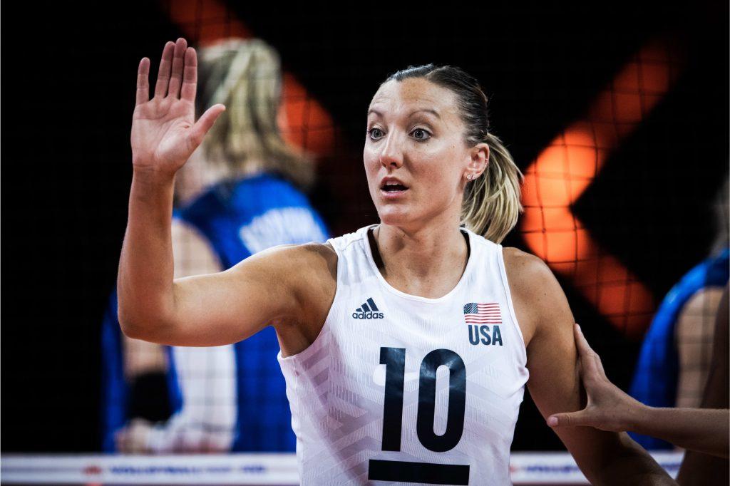東奧》美國女排隊長 Jordan Larson 三征奧運 銀、銅收集獨缺金牌